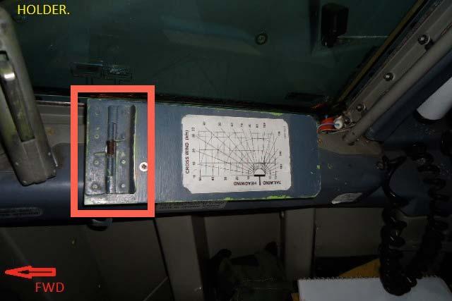 B737 Classic side window sill option.